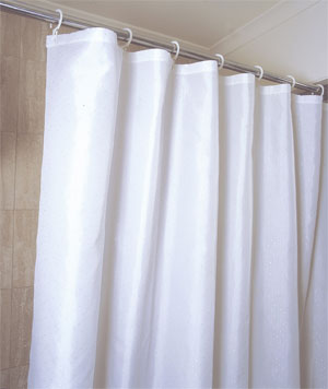NYLON SHOWER CURTAINS: